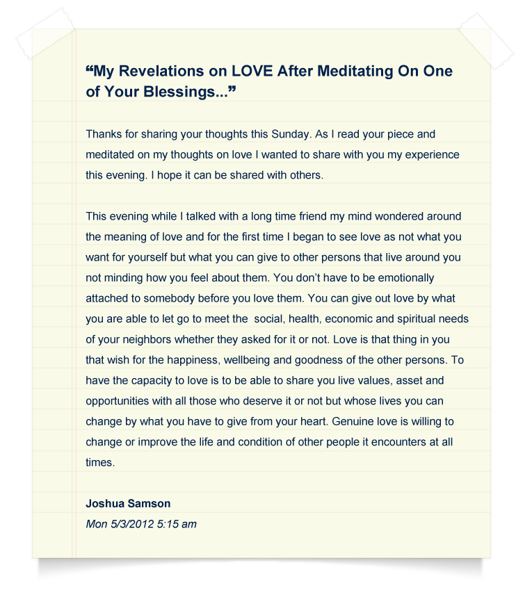 365 Days of Blessings Testimonial