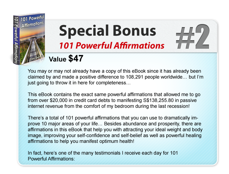 365 Days of Blessings Special Bonus #2